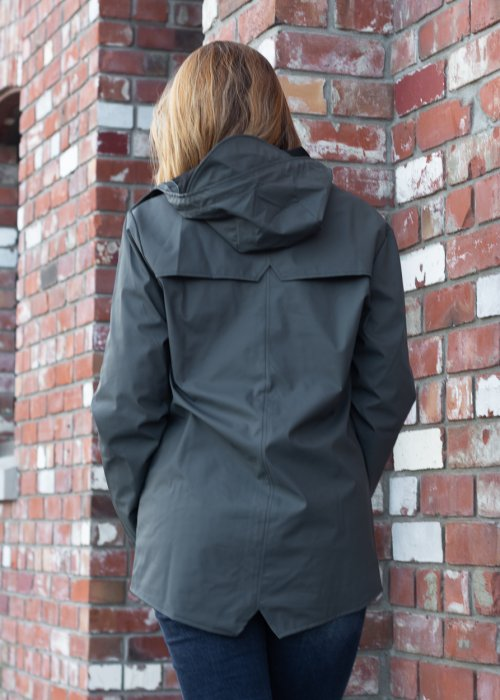 Rains   Jacket   Slate