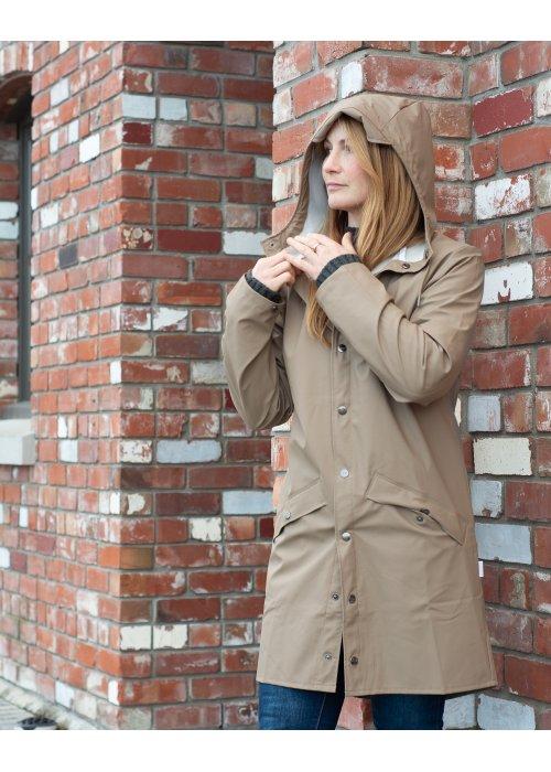 Rains | Long Jacket | Taupe