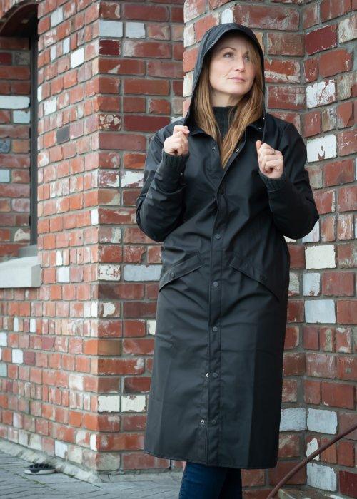 Rains   Longer Jacket   Black