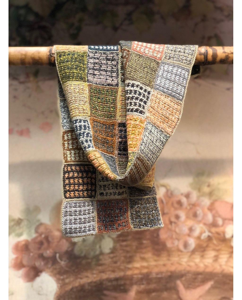 Sophie Digard   Esprit Voyageur   Small Crocheted Scarf   Merino