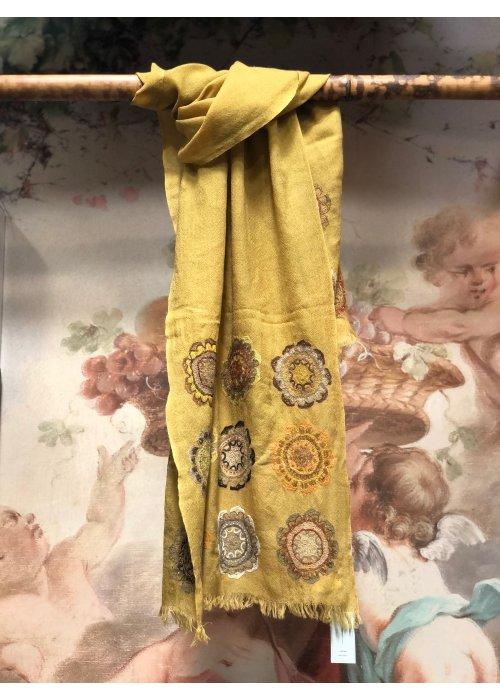 Sophie Digard | Half-embroidered Woollen Scarf | Structure