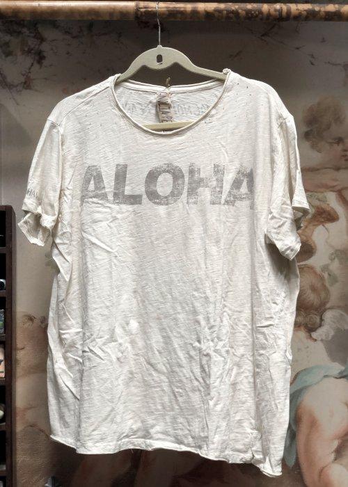 Magnolia Pearl | Cotton Jersey Aloha T | Moonlight