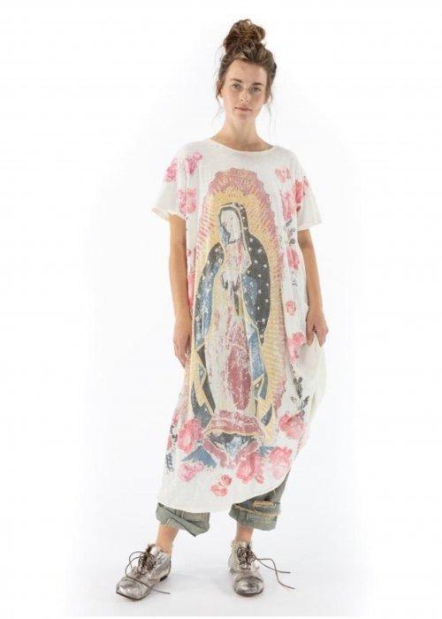 Magnolia Pearl | Cotton Jersey Amor Appliqué T Dress | Moonlight