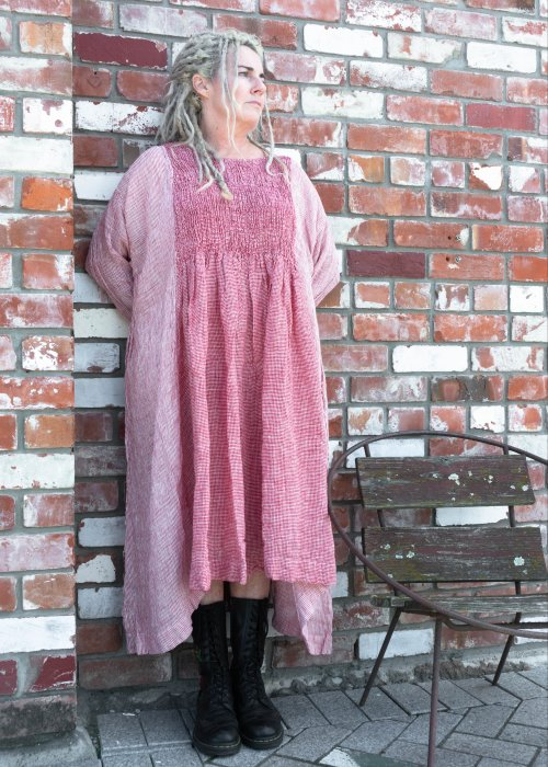 Meg by Design | Annabelle Linen Dress | Red Check