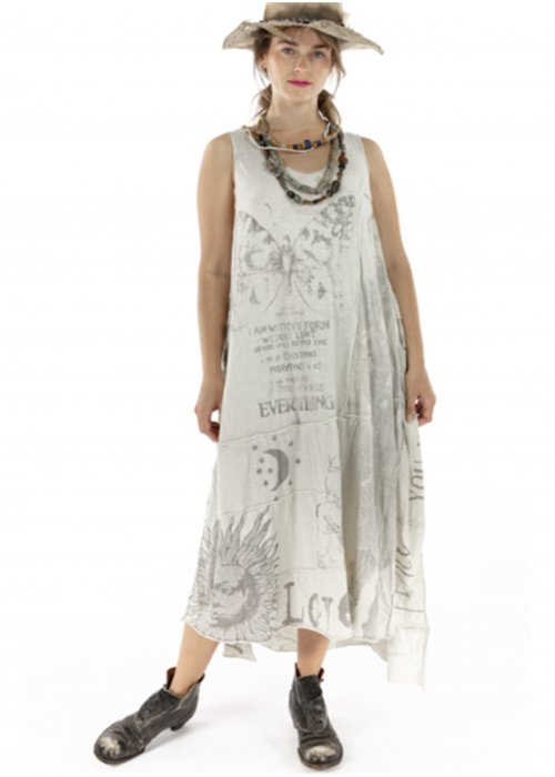 Magnolia Pearl | Cotton Jersey Art Graphic Layla Tank Dress | Moonlight