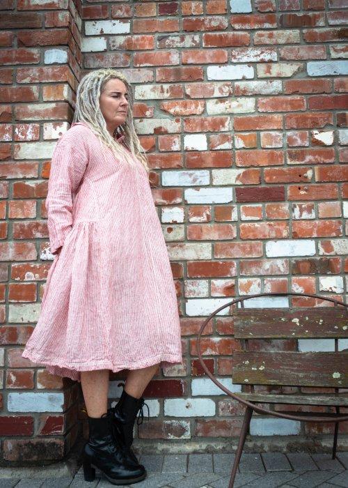 Meg by Design | Audrey Linen Dress | Red & White Stripe