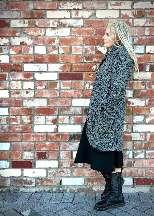 Banana Blue | Winter Coat | Mosaic | Wool-Viscose-Cotton Mix
