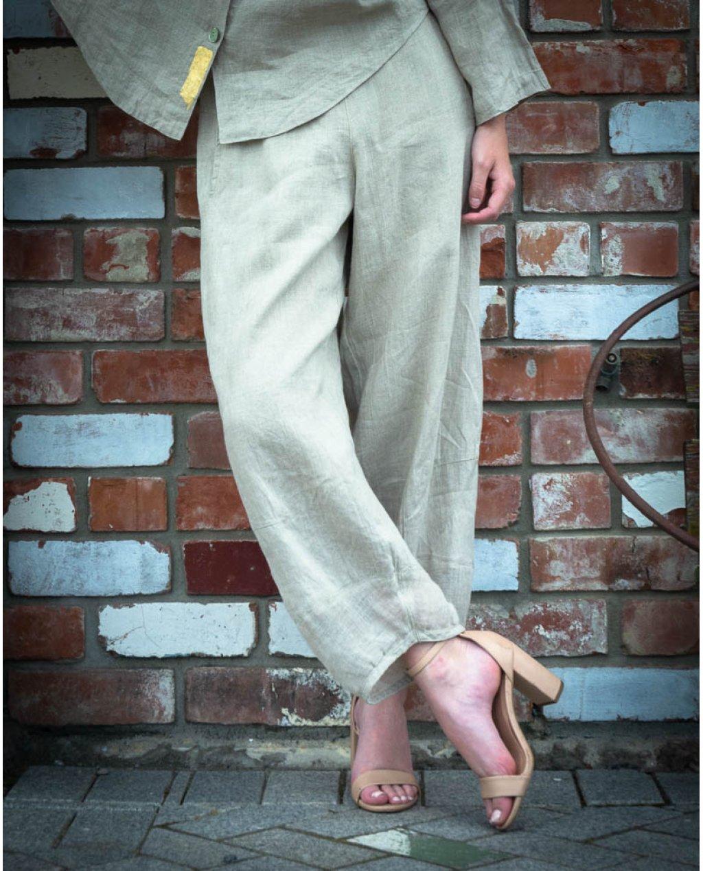 Banana Blue | Loose Linen Pants | Flax