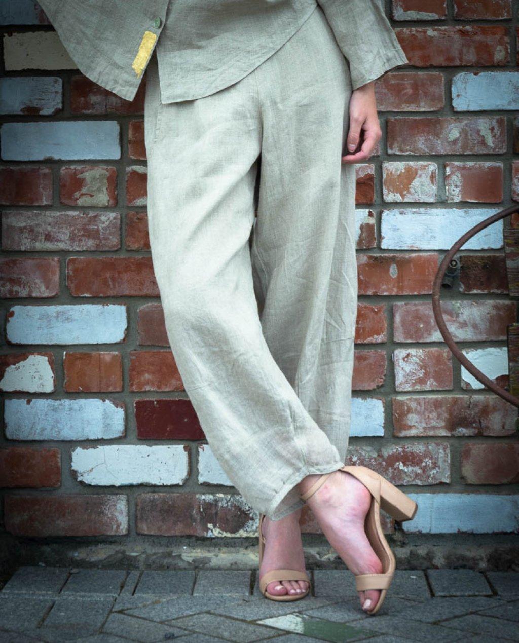 Banana Blue   Loose Linen Pants   Flax