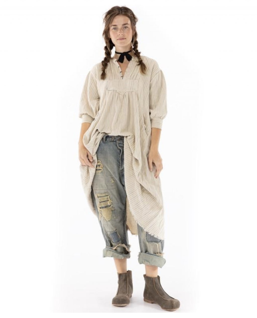 Magnolia Pearl | Bibby Dress | Woven Cotton | Little Shell
