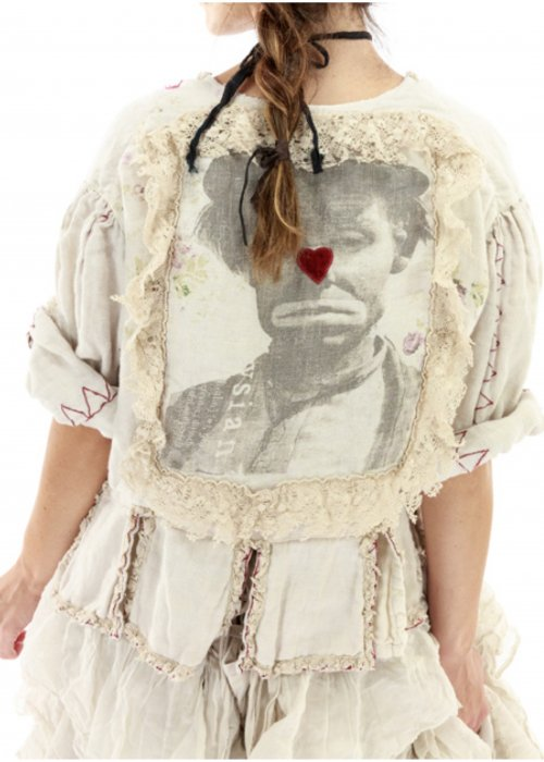 Magnolia Pearl   Binky  Jacket   Cotton Twill   Moonlight