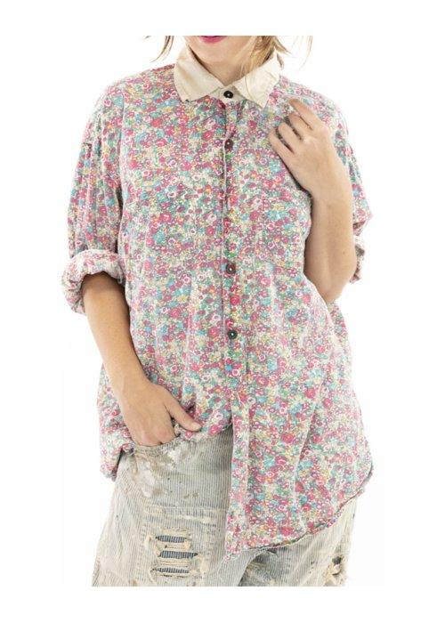 Magnolia Pearl | Boyfriend Shirt | Clover | European Cotton Print