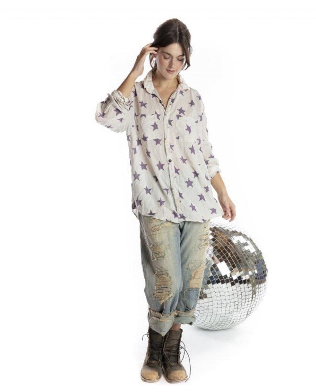 Magnolia Pearl | Boyfriend Shirt | Twinkle Little Star | European Cotton