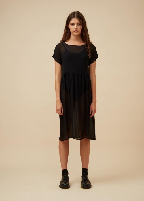 Widdess | Captain Dress | Noir | Silk Georgette