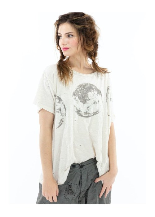 Magnolia Pearl | Cotton Jersey Celestial Sphere T | Moonlight