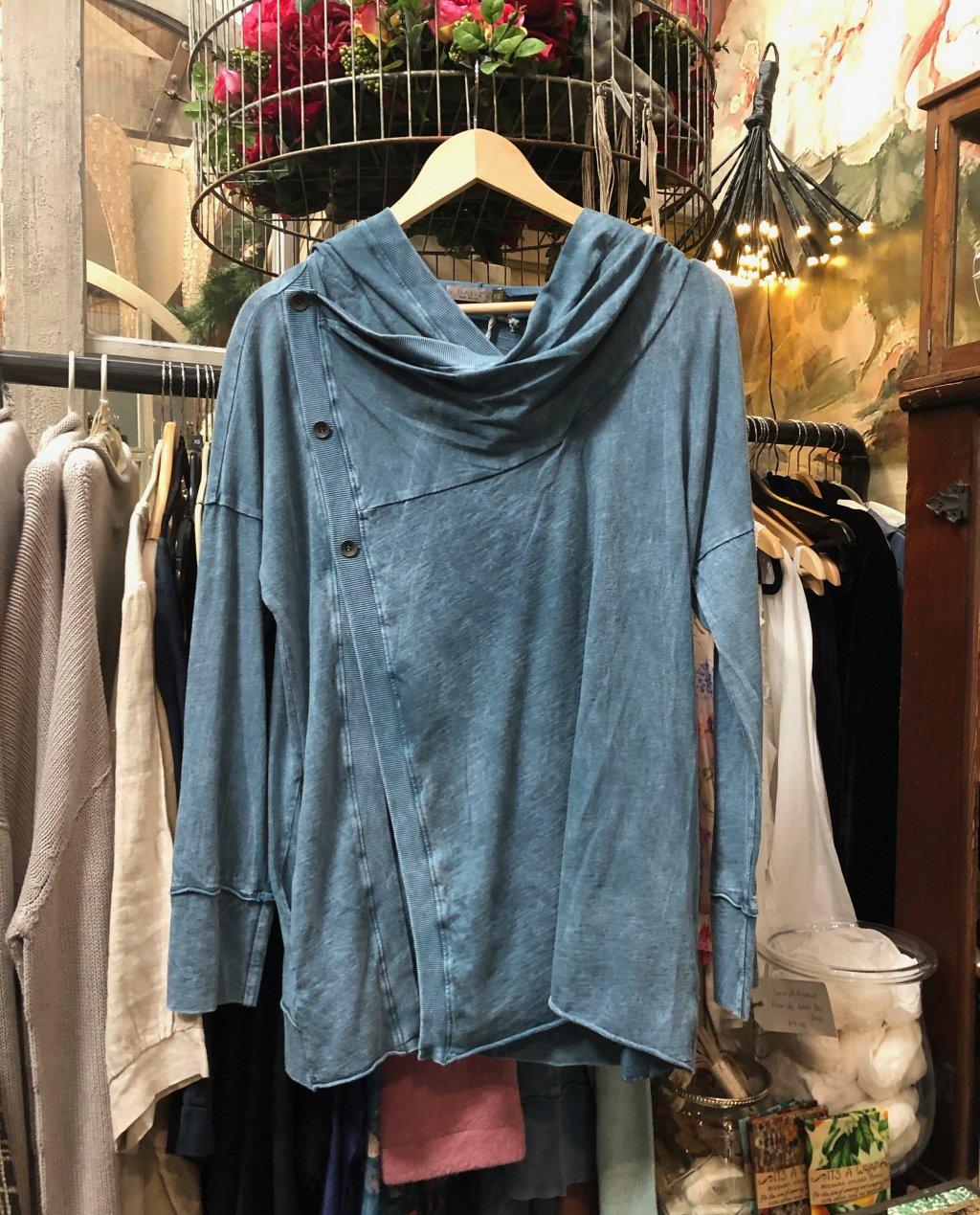 Chalet et Cici   Josefina Jacket  Denim   100% Cotton