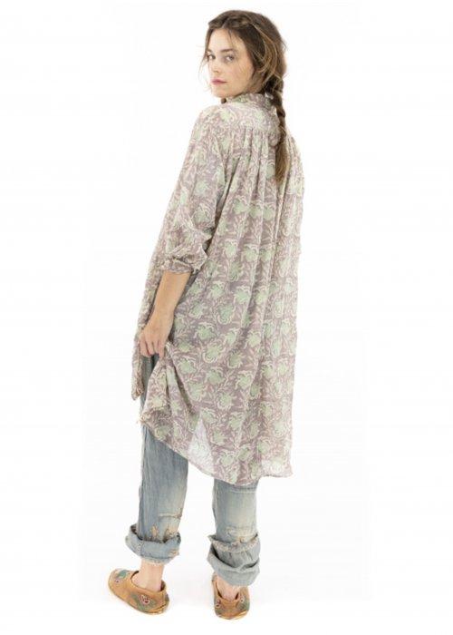Magnolia Pearl | Cordelia Night Shirt| Cotton Gauze Block Print | Lissa
