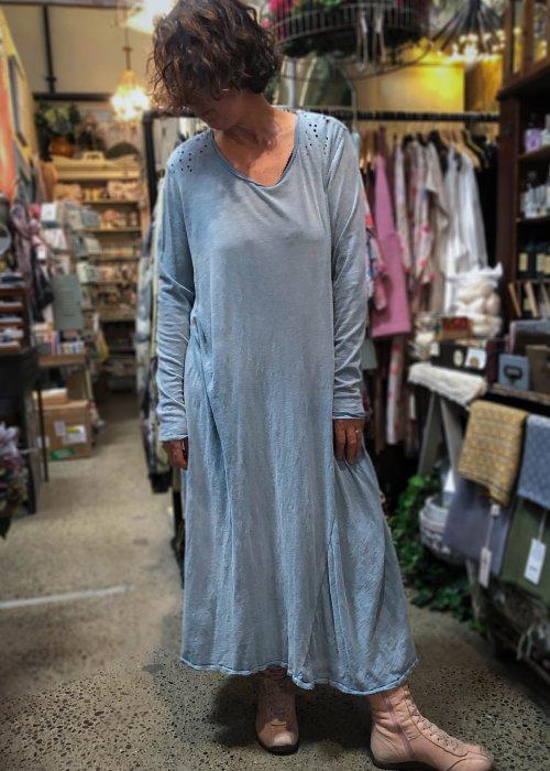 Magnolia Pearl | Cotton Jersey T Dress | Texas Sky