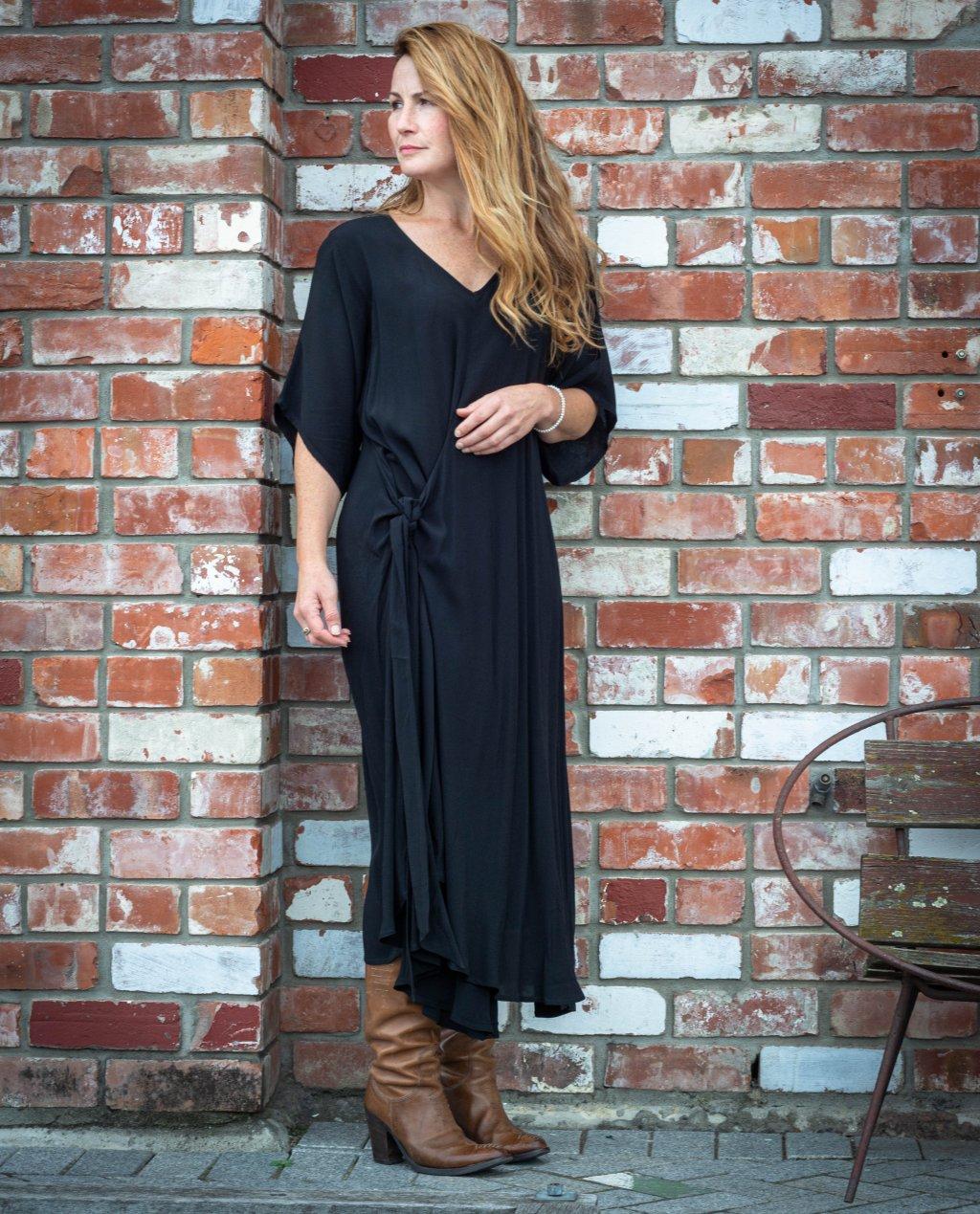 Jason Lingard   Cristobel Reversible Dress   Black