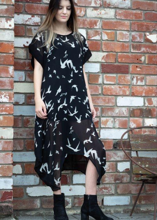 Jason Lingard | Crow Dress | Bird Print