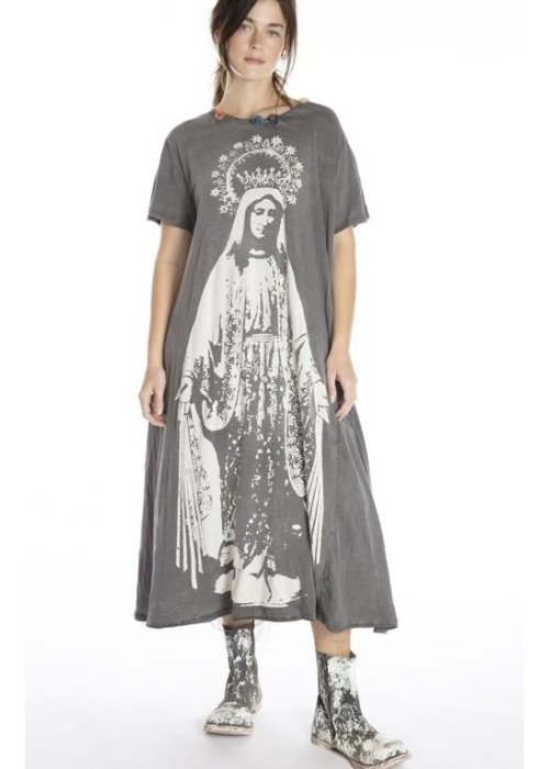 Magnolia Pearl | Cotton Jersey Crown of Our Lady T Dress | New Boyfriend Cut | Ozzy