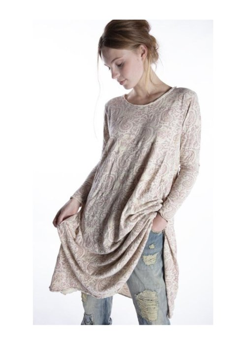 Magnolia Pearl | Cotton Jersey  T Dress | Hand-block-printed | Durga