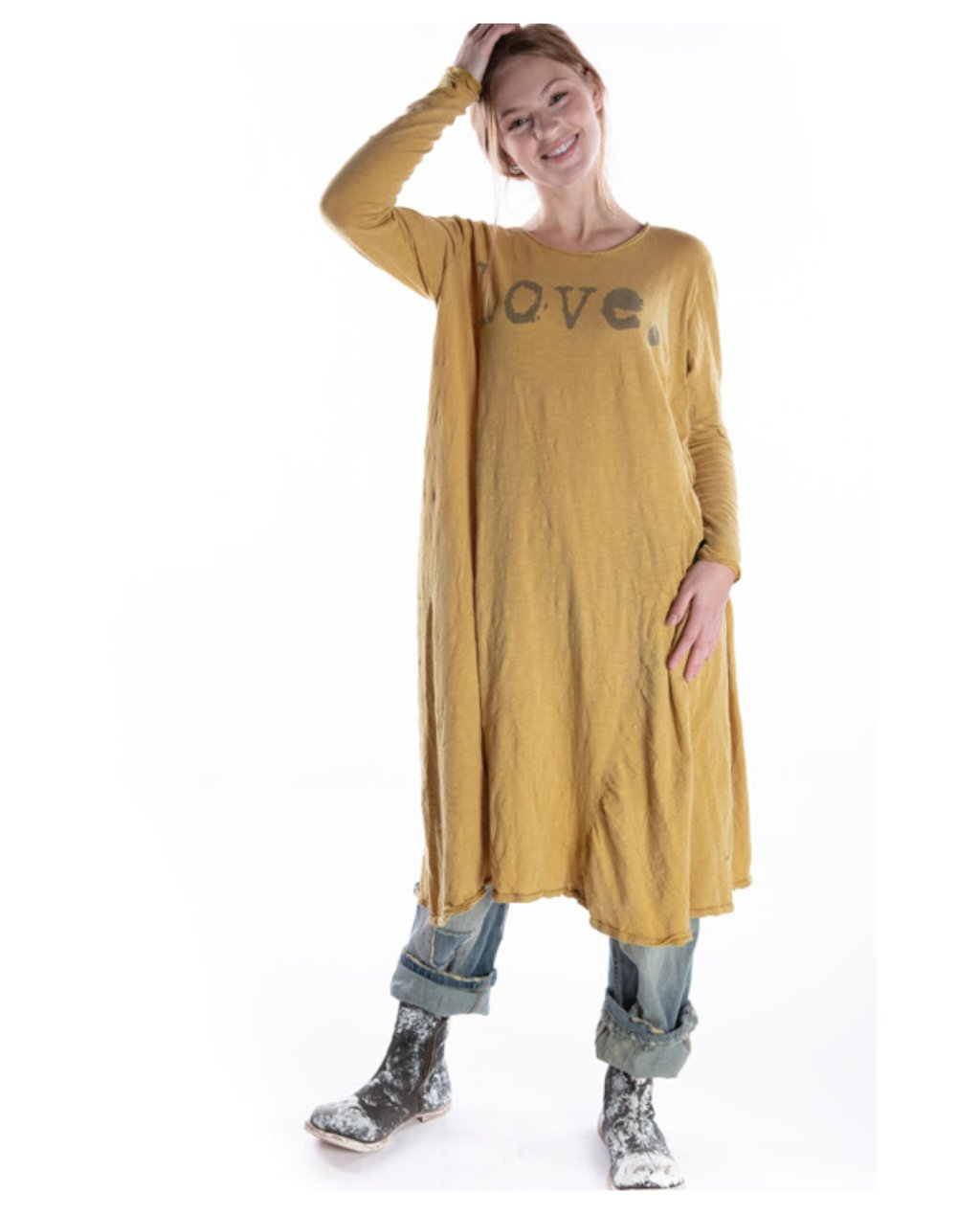 Magnolia Pearl | Cotton Jersey Love Dylan T Dress | Marigold