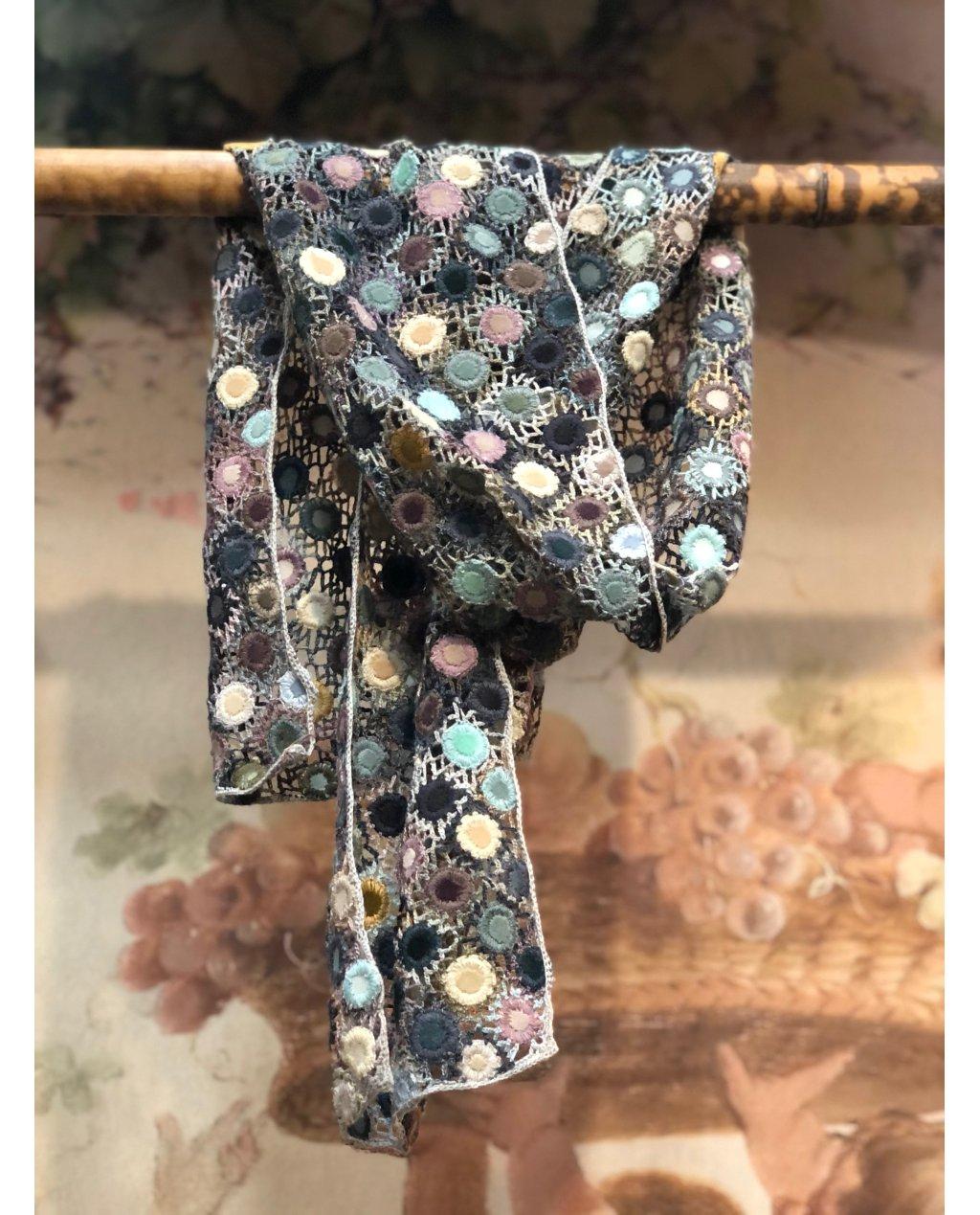 Sophie Digard | Crocus | Large Crochet Scarf | Merino