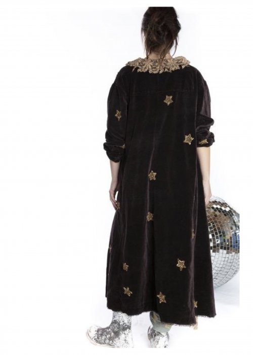 Magnolia Pearl |  Emery Coat | Cotton Velvet with Star Applique | Rooted