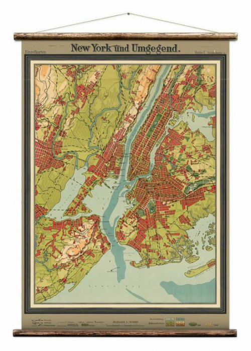 Wall Hanging by Erstwhile | Map of New York
