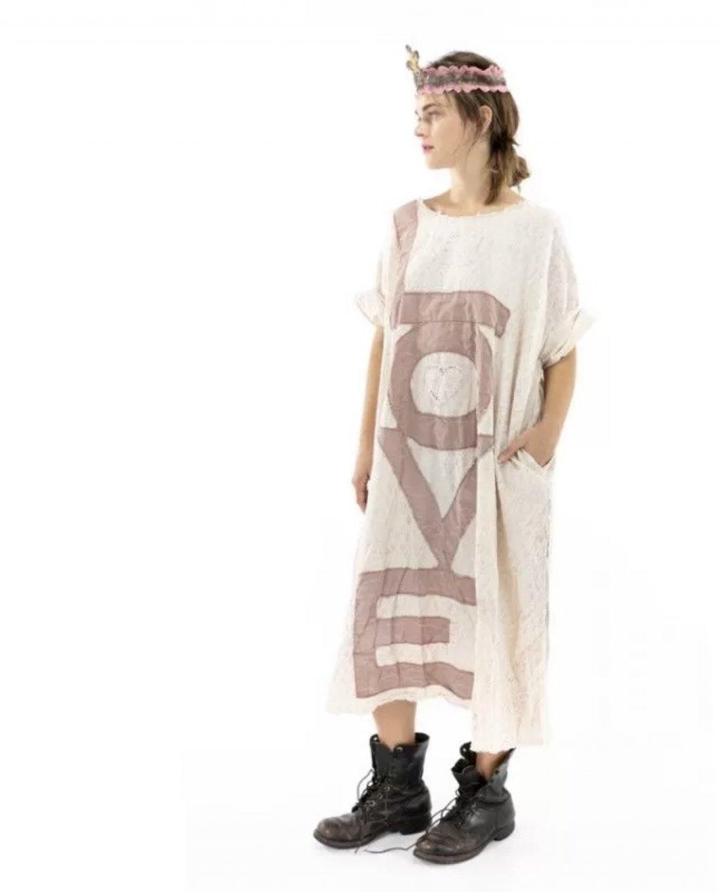 Magnolia Pearl   Evolve Artist's Smock Dress   European Cotton   Flutter