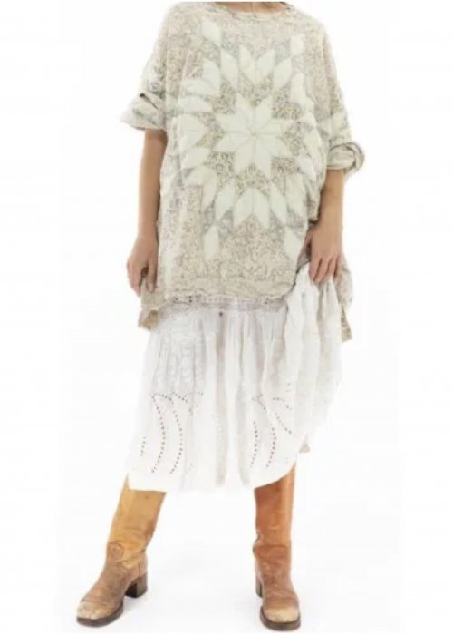 Magnolia Pearl | Cotton Silk Quilted Oversized Francis Top | Cherish
