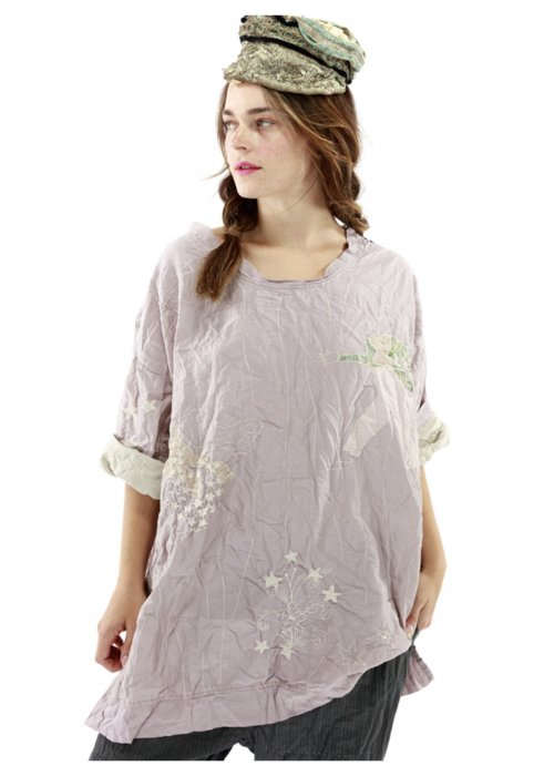 Magnolia Pearl | Cotton Silk Quilted Oversized Francis Top | Pony