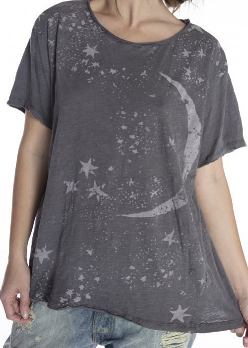 Magnolia Pearl | Cotton Jersey Galaxy Dust T | Ozzy | New Boyfriend Cut