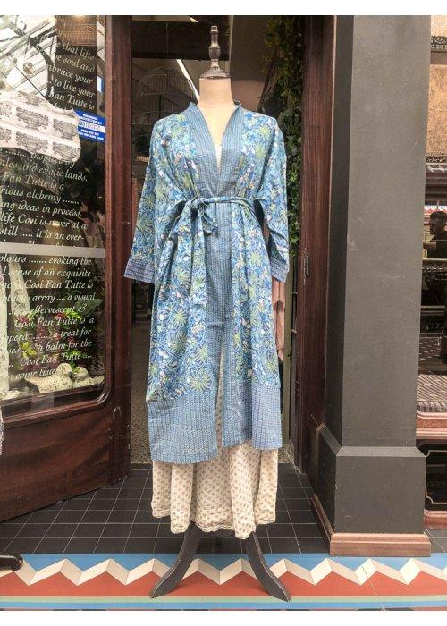 Stella & Gemma  Cotton Housecoat   Blue