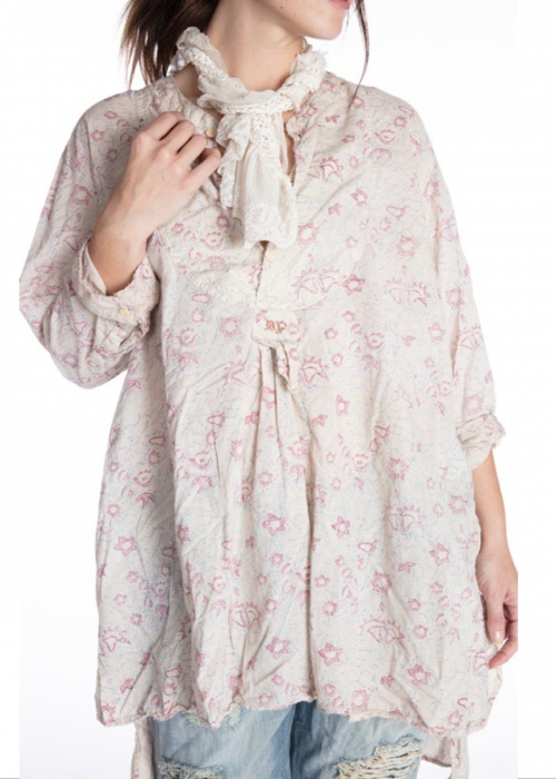 Magnolia Pearl | Ines Classic Shirt | Hand-block-printed European Cotton | Swell