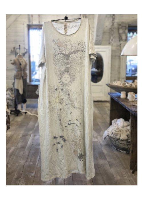 Magnolia Pearl | Cotton Jersey Interdependent Universe T Dress | New Boyfriend Cut | Moonlight