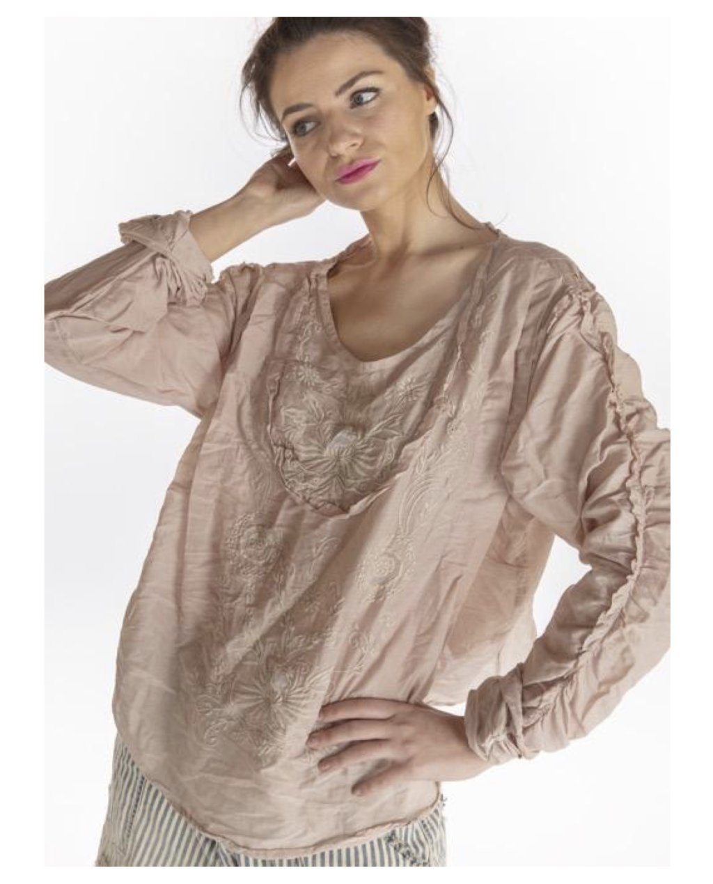 Magnolia Pearl   Into the Groove Blouse   Lilac