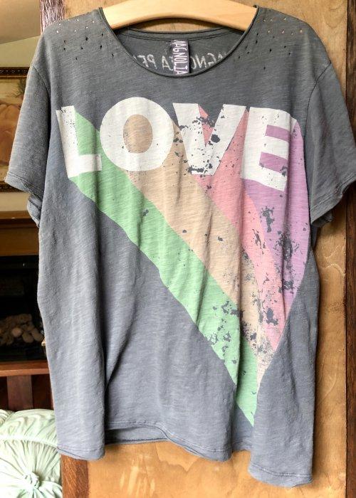 Magnolia Pearl | Cotton Jersey Technicolour Love T | Ozzy | New Boyfriend Cut