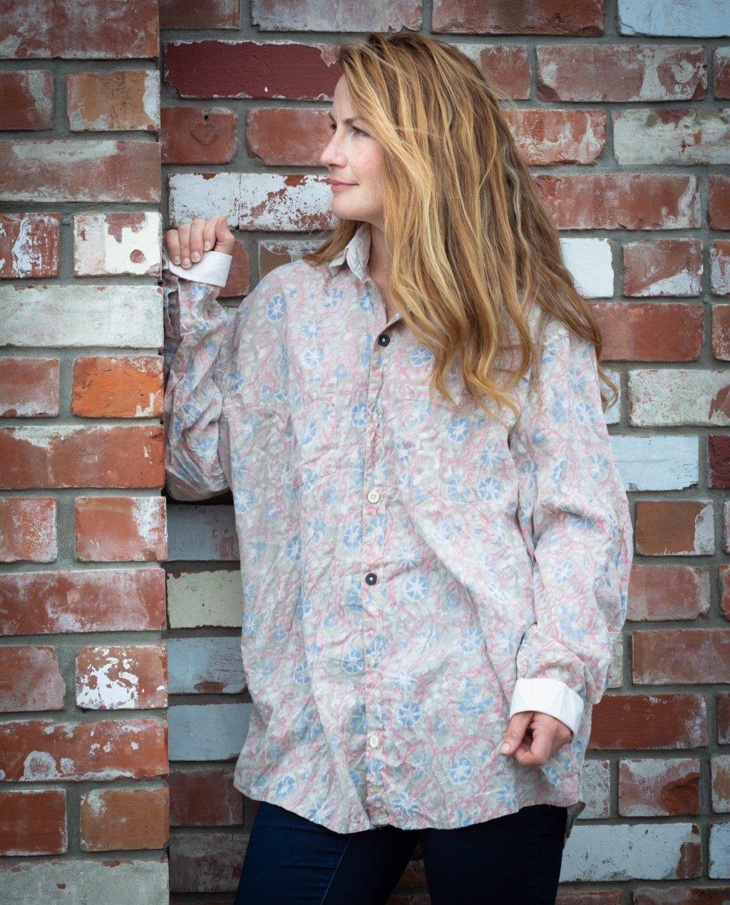 Magnolia Pearl   Boyfriend Shirt   Floraison   European Cotton