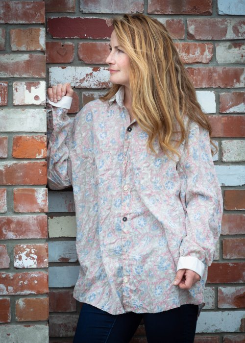 Magnolia Pearl | Boyfriend Shirt | Floraison | European Cotton