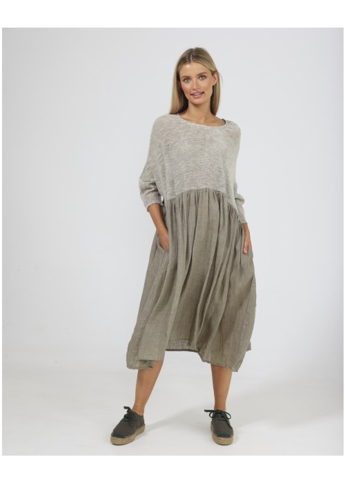 The Shanty Corporation | Nikita Dress | Bay Leaf | 100% Linen