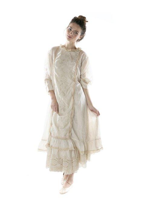 Magnolia Pearl   Queen Nellie Dress   European Cotton & Cotton Silk   Moonlight