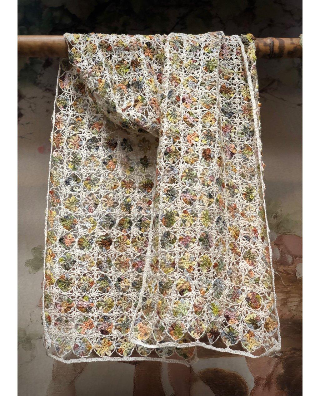 Sophie Digard   Large Crochet Scarf   Linen   Alchemilla -