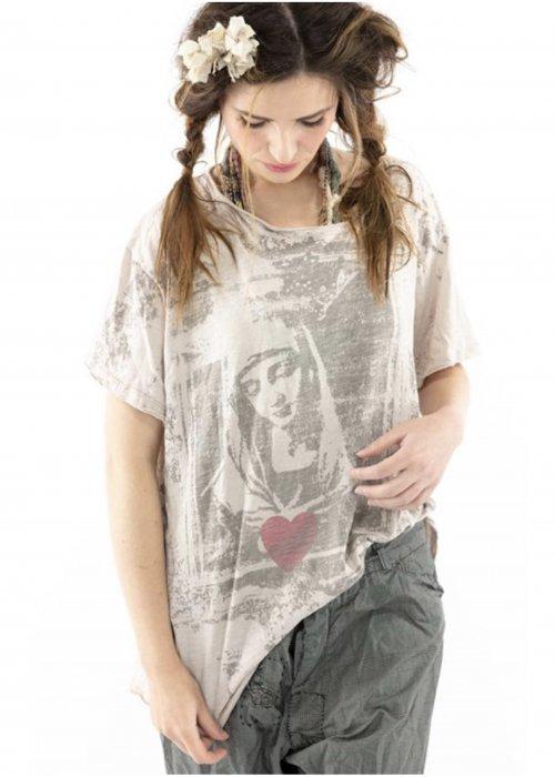 Magnolia Pearl | Cotton Jersey Saint Love T | Molly | New Boyfriend Cut