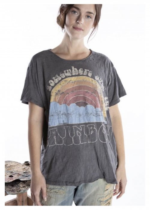 Magnolia Pearl | Cotton Jersey Somewhere Over the Rainbow T | Ozzy | New Boyfriend Cut