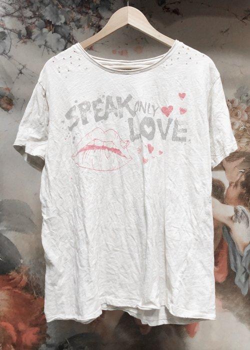 Magnolia Pearl | Cotton Jersey Speak Love T| Moonlight | New Boyfriend Cut