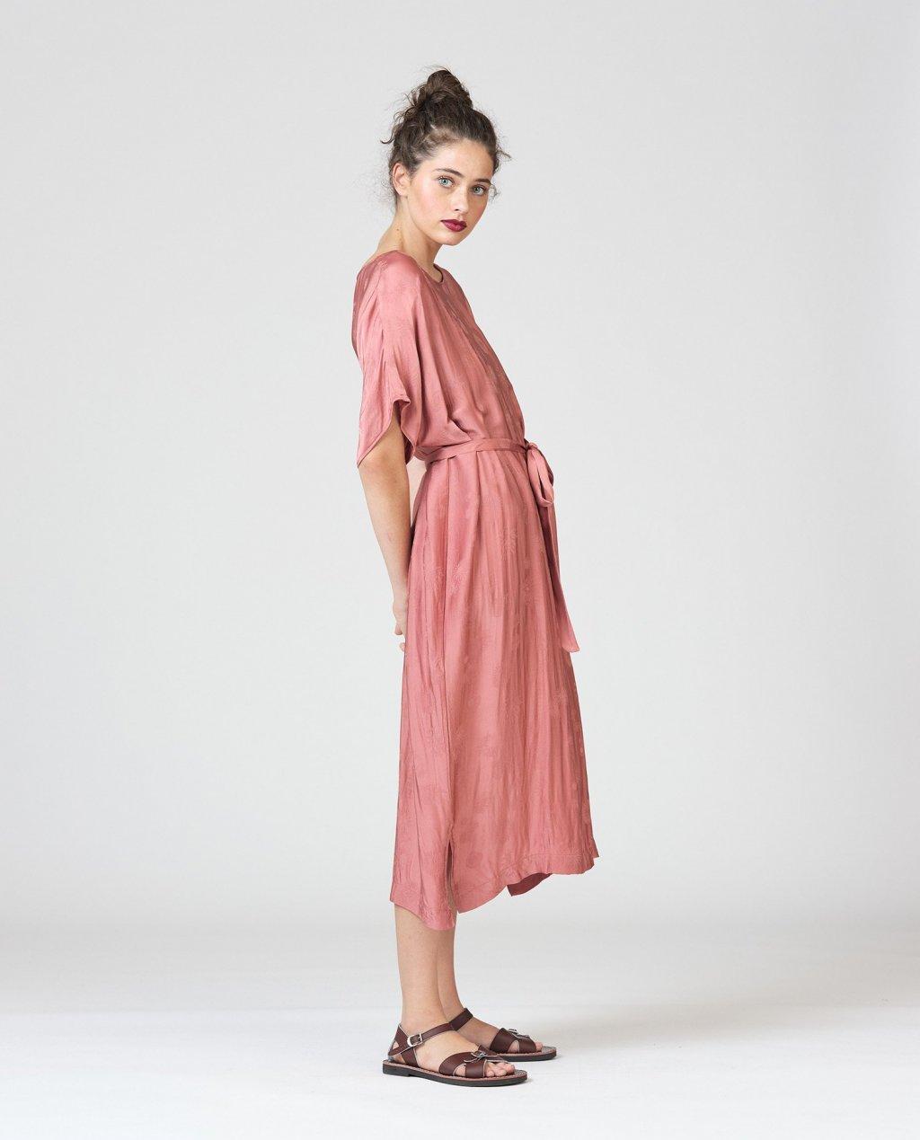 Widdess | Spring 2020 | Mitchell Dress | Rosewood | Tencel/Rayon