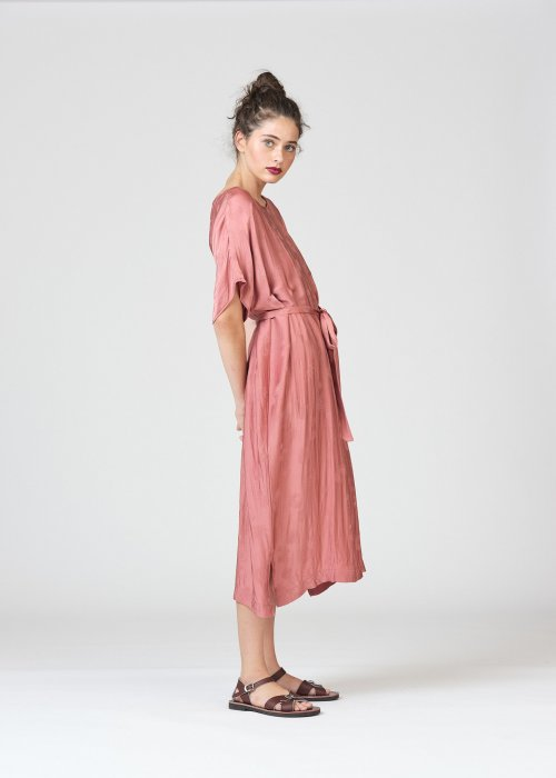 Widdess | Spring 2020 | Mitchell Dress | Rosewood | Tencel/Rayon