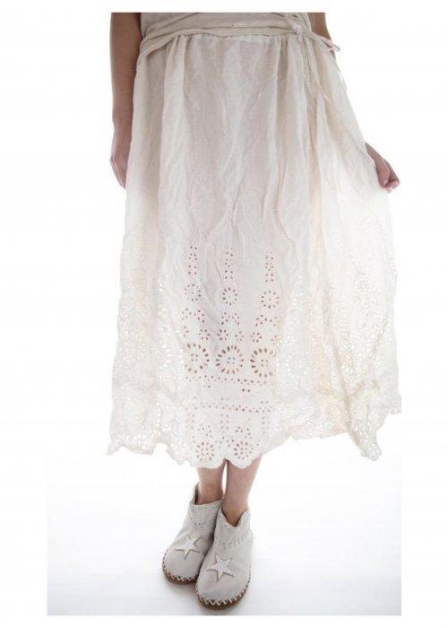 Magnolia Pearl | You Are My Sunflower Eyelet Slip Skirt| Antique White
